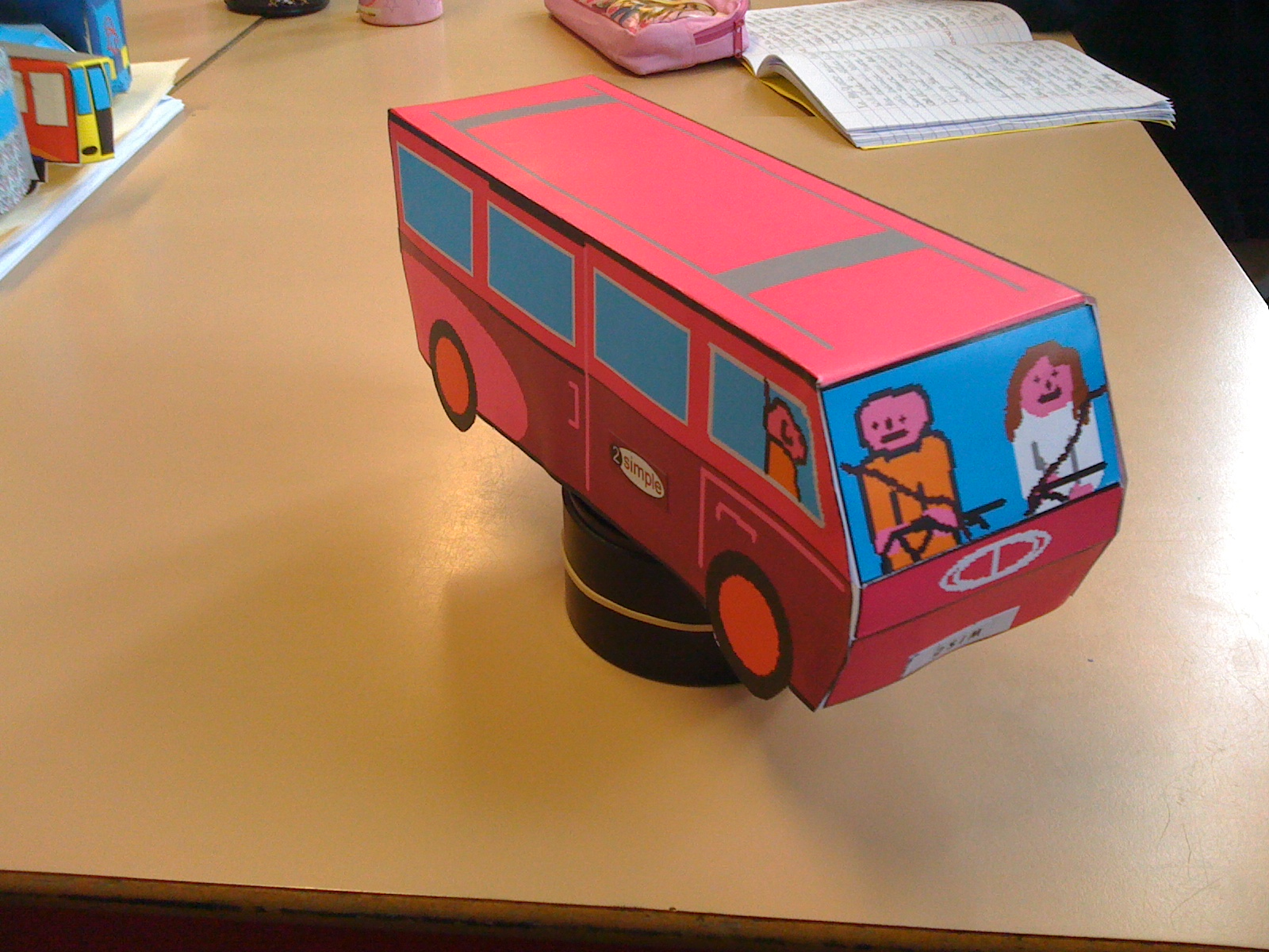 "Rotating the ""purple people carrier"""