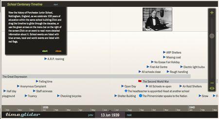 School History Interactive Timeline