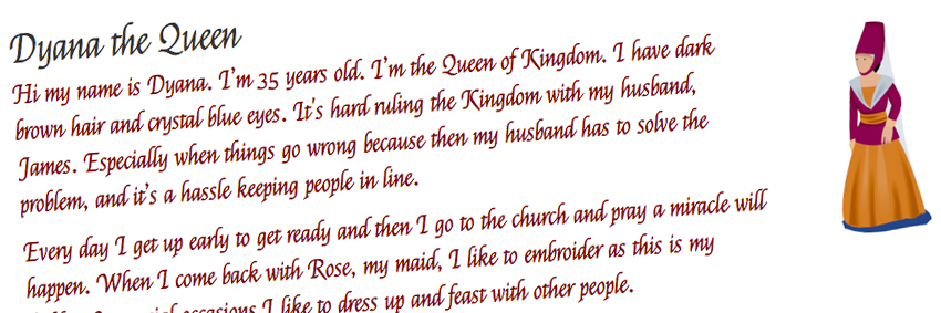 Detailed descriptions created for each of the characters within 'Kingdom'